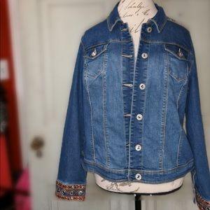 Jackets & Blazers - NWT Baccini jeans jacket